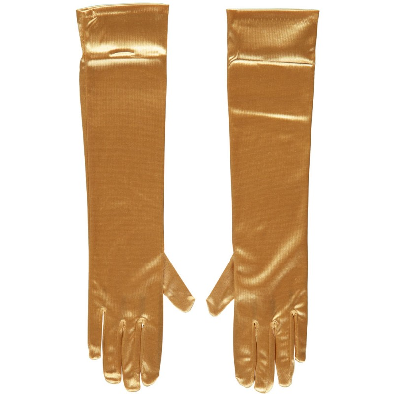 Gala handschoen 40 cm van Satijn-Gold