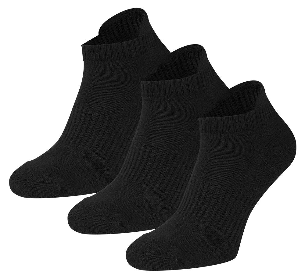 Sneakersokken met badstof zool-31/35-Black