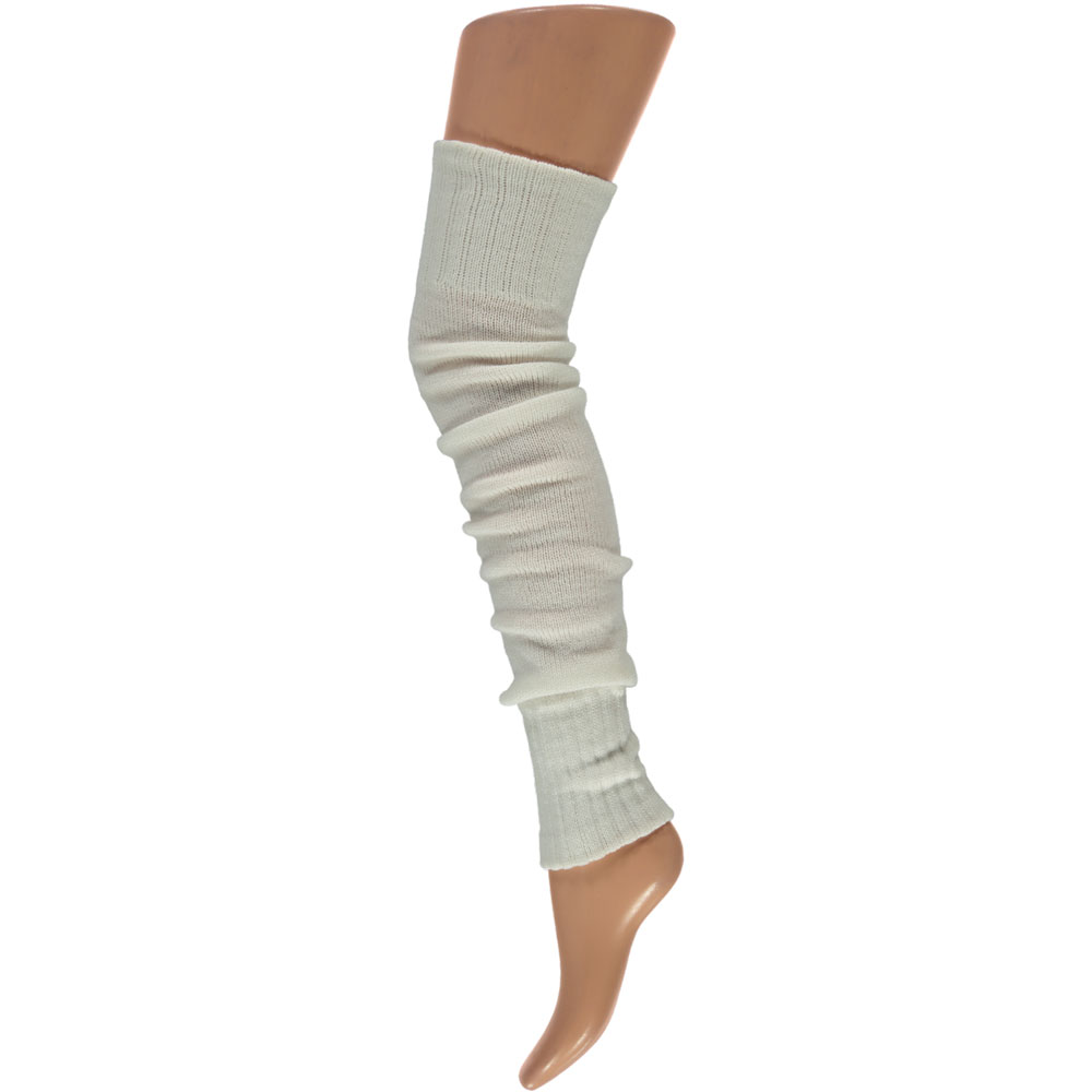 Overknee beenwarmers-One-size-White