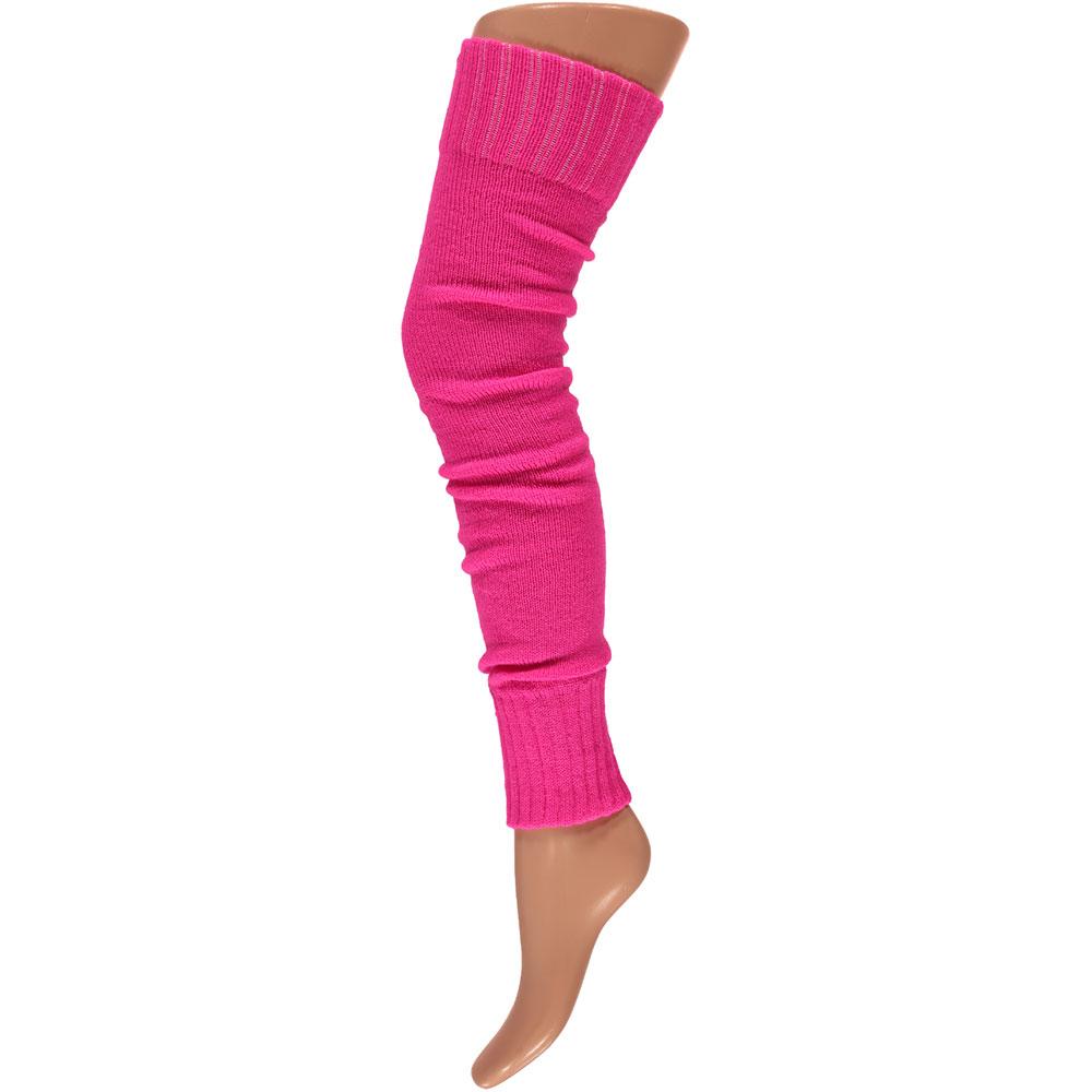 Overknee beenwarmers-One-size-Fluor pink