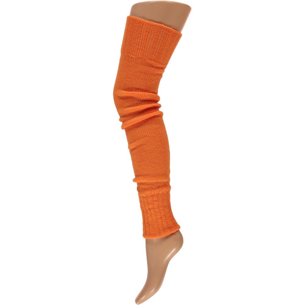 Overknee beenwarmers-One-size-Fluor orange