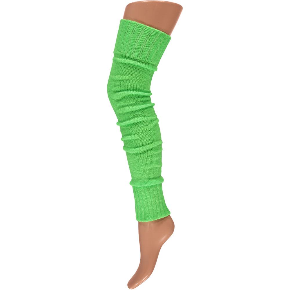 Overknee beenwarmers-One-size-Fluor green