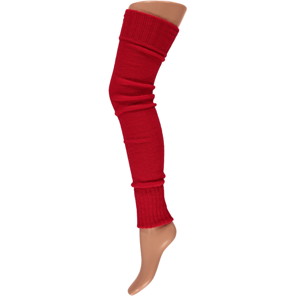 Overknee beenwarmers-One-size-Red