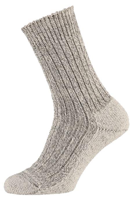 Wollen sokken met vilt zool-42/45-Light grey