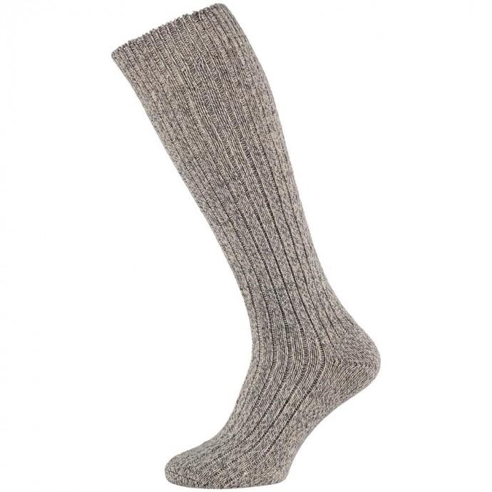 Wollen heren kniekousen met meraklon -42/45-Noors grey