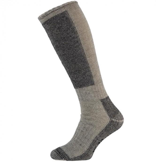 Merino wollen kniekousen-31/34-Grey