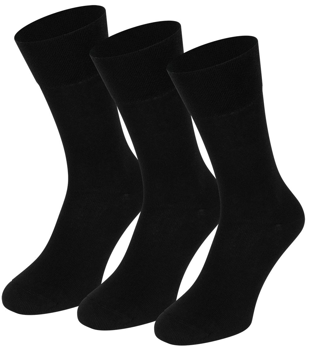Sokken van biologisch katoen-43/46-Black