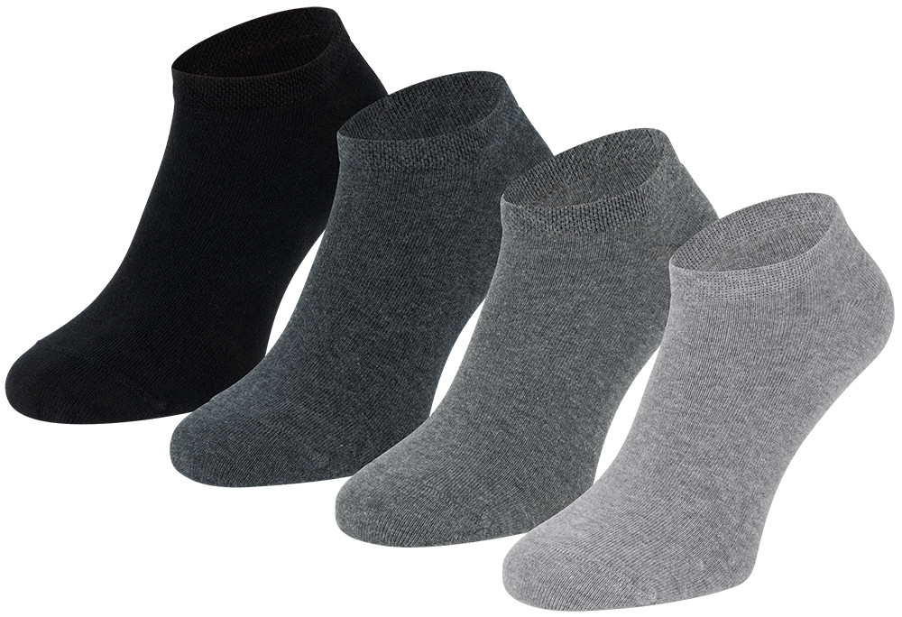 Sneakersokken van biologisch katoen-39/42-Grey melange