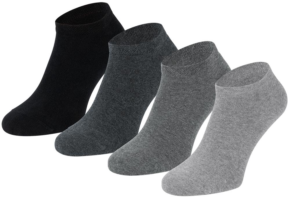 Sneakersokken van biologisch katoen-43/46-Grey melange