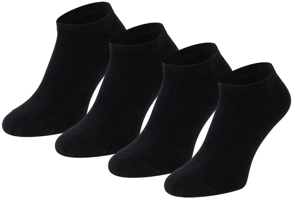 Sneakersokken van biologisch katoen-43/46-Black