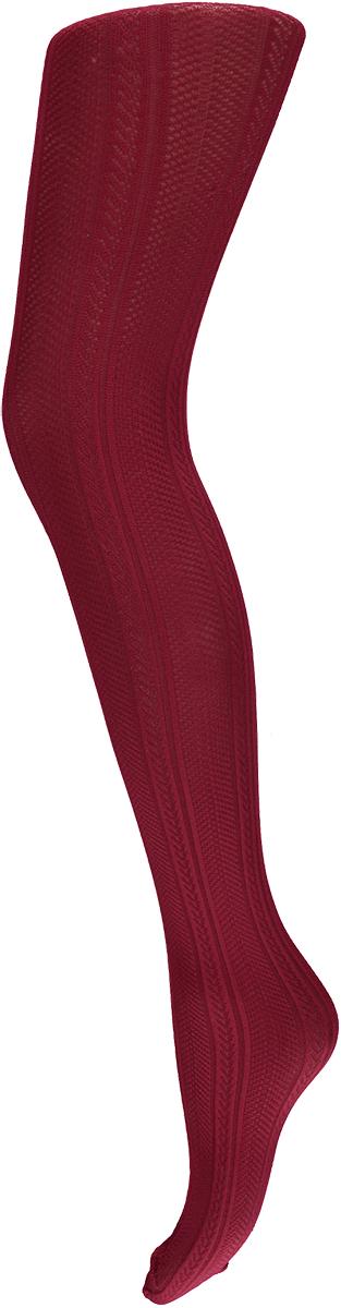 Dames panty met kabel-XL-Bordeaux