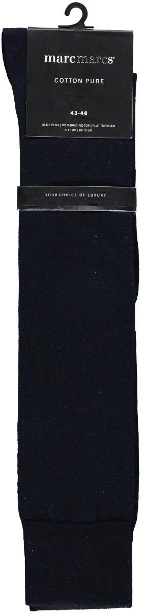 Puur katoenen heren kniekousen-43/46-Marine