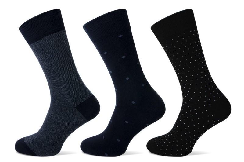 Teckel sokken met stippen-Black