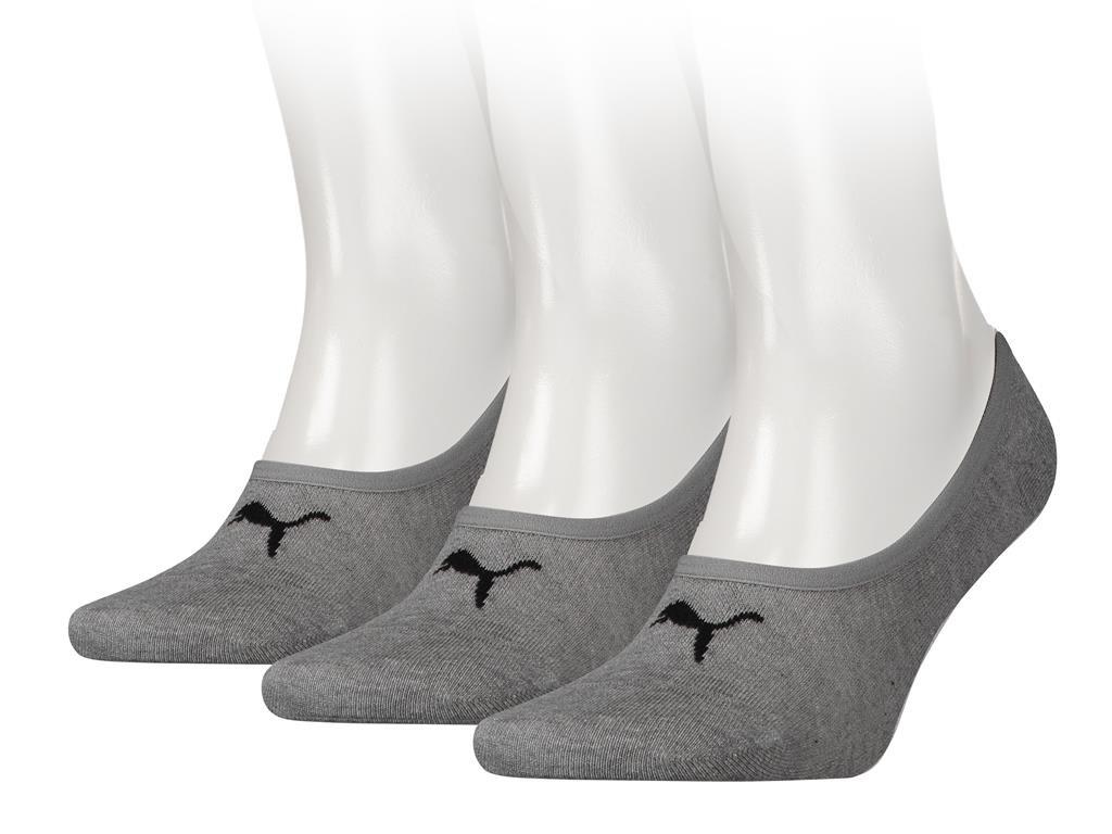 Footies no show-35/38-Grey melange