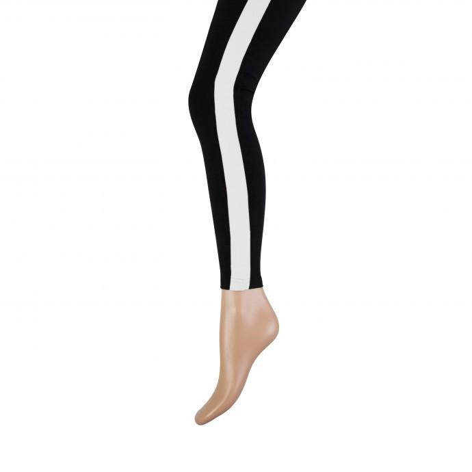 Lange dames legging met brede bies-L/XL-Ecru