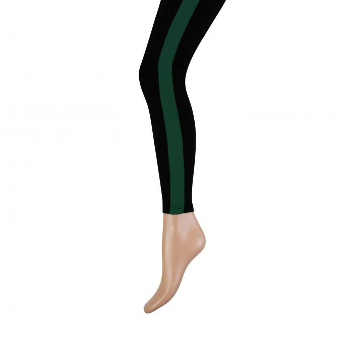 Lange dames legging met brede bies-XXL-Green