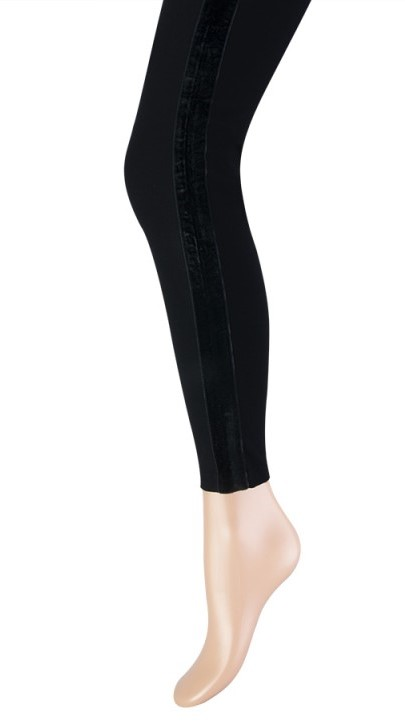 Katoenen dames legging velvet streep-XXL