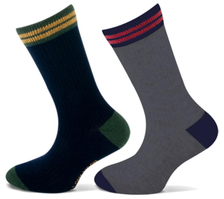 Katoenen Jongens sokken met rib -27/30