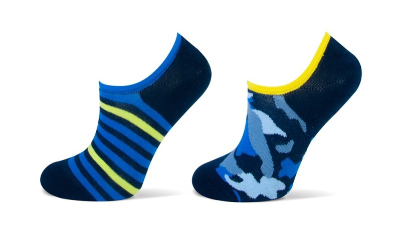 Footie YM camouflage 2-pack-Navy-35/38