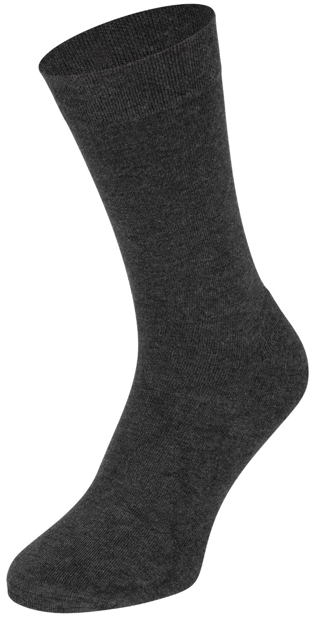 Bamboe sokken met badstof zool-39/42-Antraciet