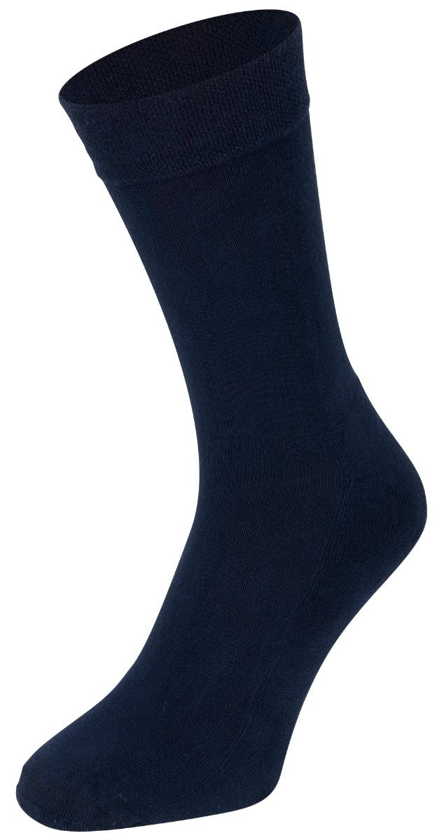 Bamboe sokken met badstof zool-43/45-Marine