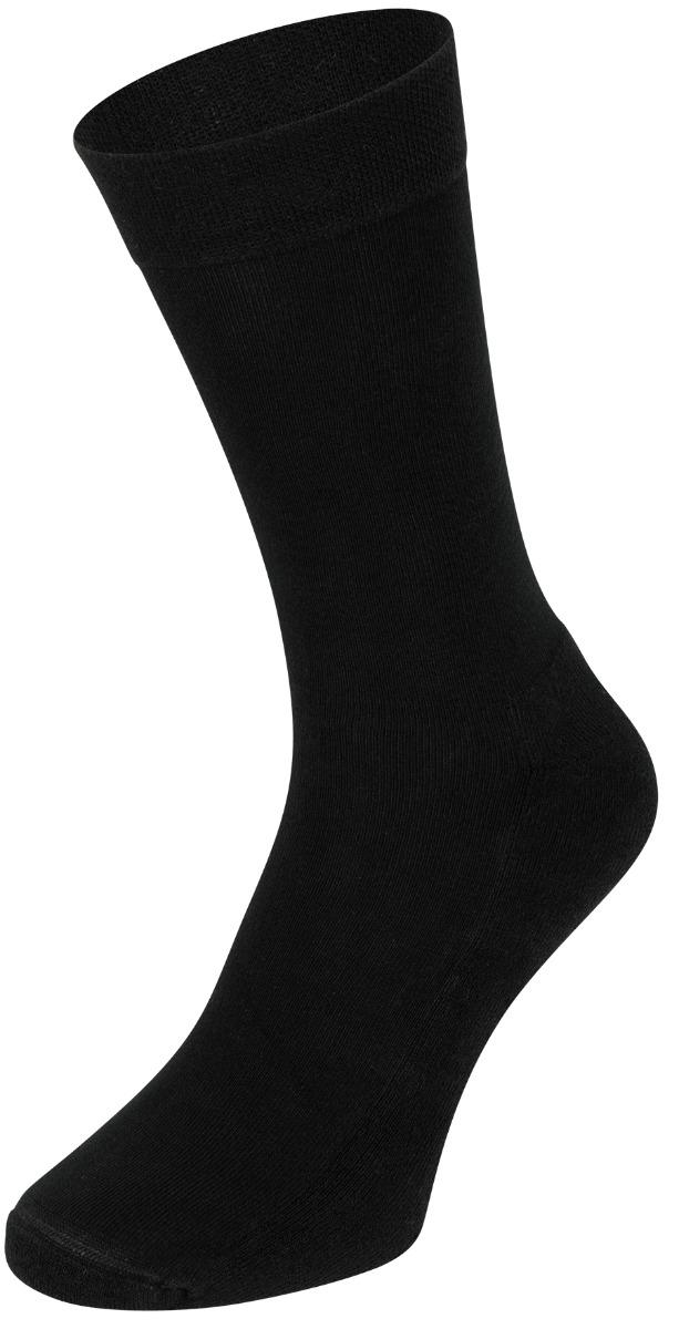 Bamboe sokken met badstof zool-46/47-Black