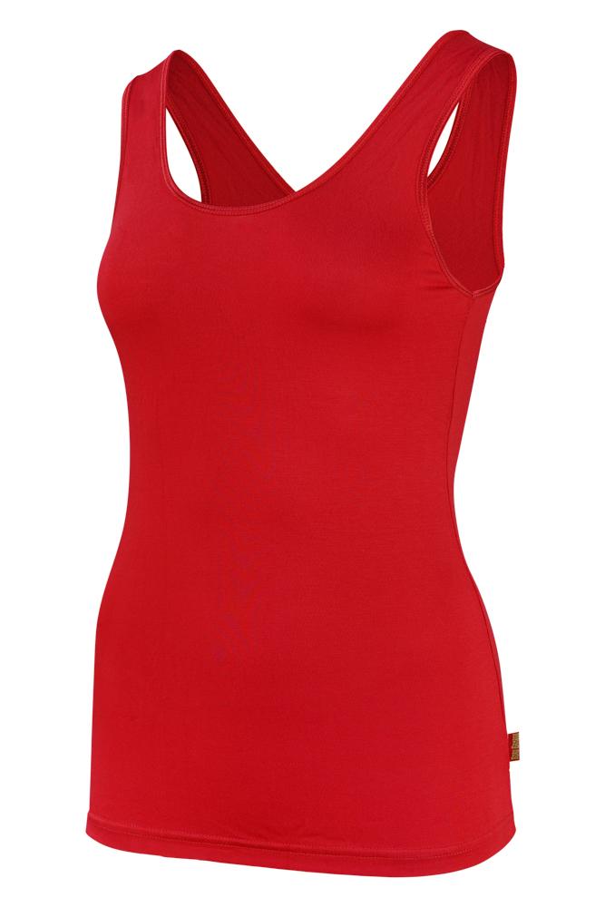 Bamboe dames hemd -L-Red