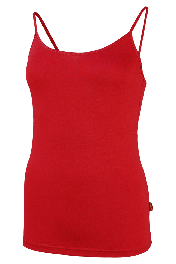 Bamboe dames singlet-S-Red
