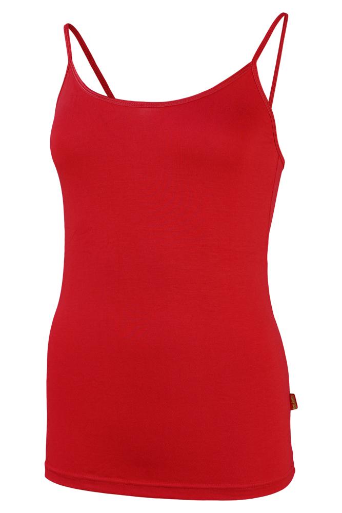 Bamboe dames singlet-M-Red