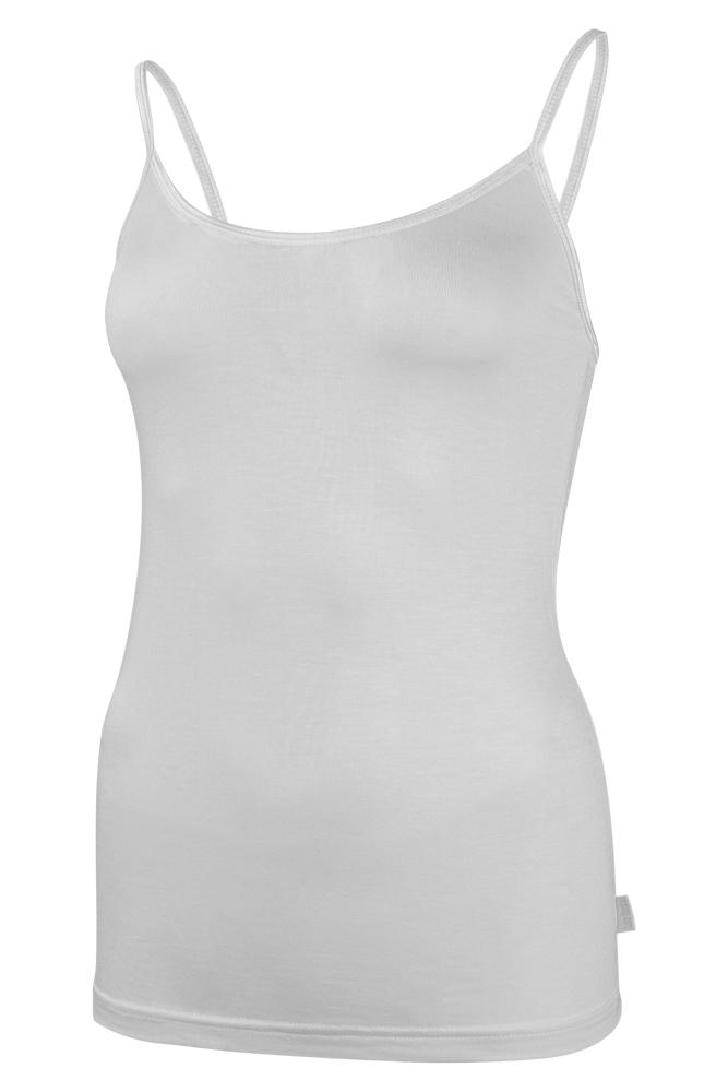 Bamboe dames singlet-XL-White