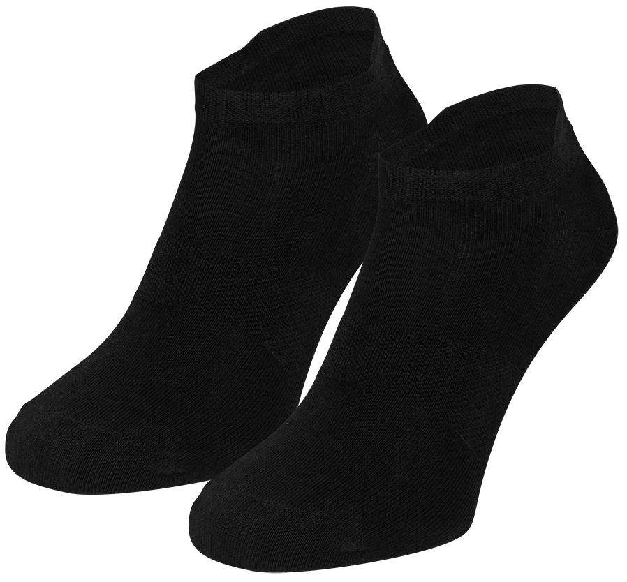 Bamboe sneakersokken met oortje-40/46-Black