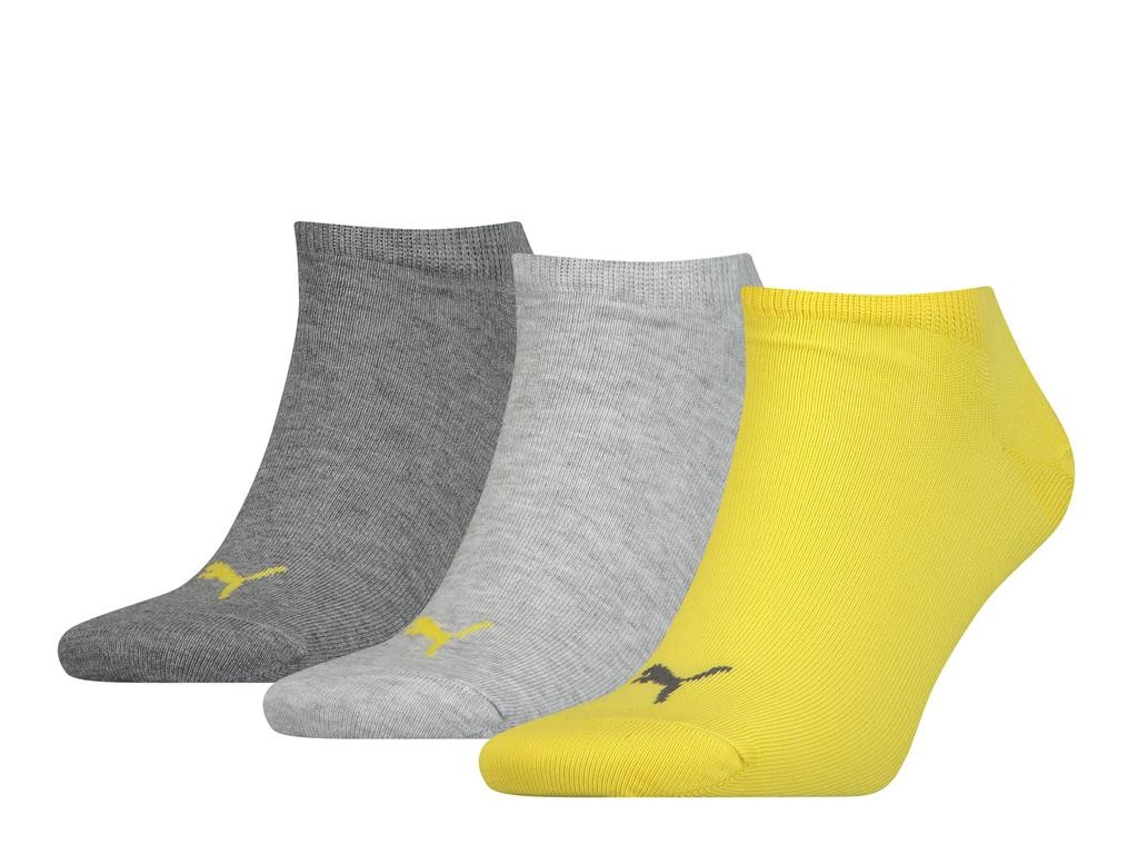Unisex sneaker plain 3 pack-47/49-Yellow