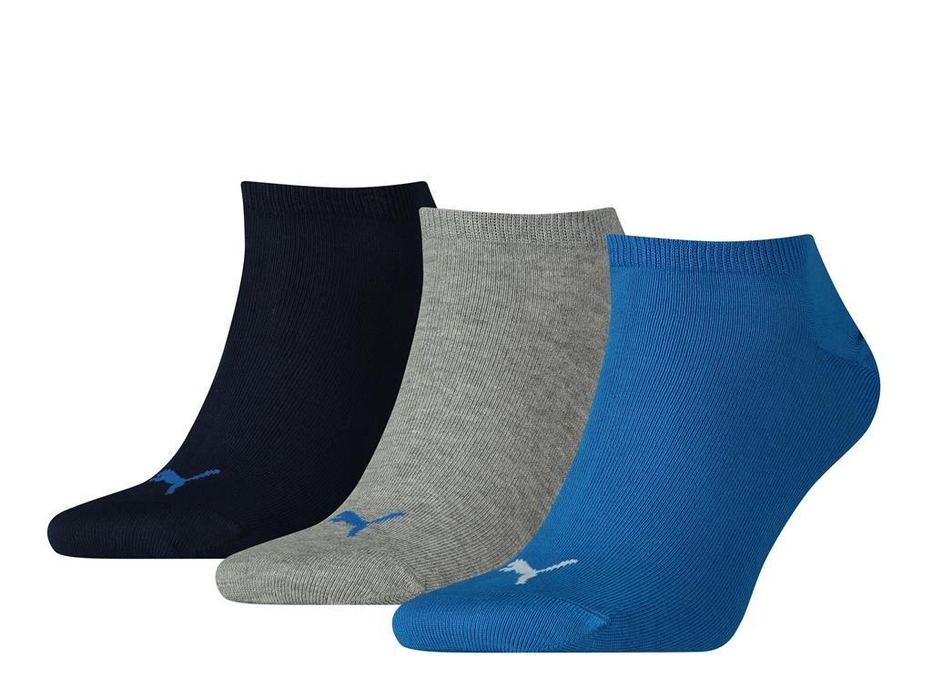 Unisex sneaker plain 3 pack-43/46-Blue