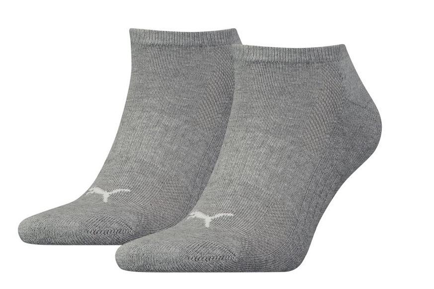 Sneakersokken met badstof zool-35/38-Grey melange