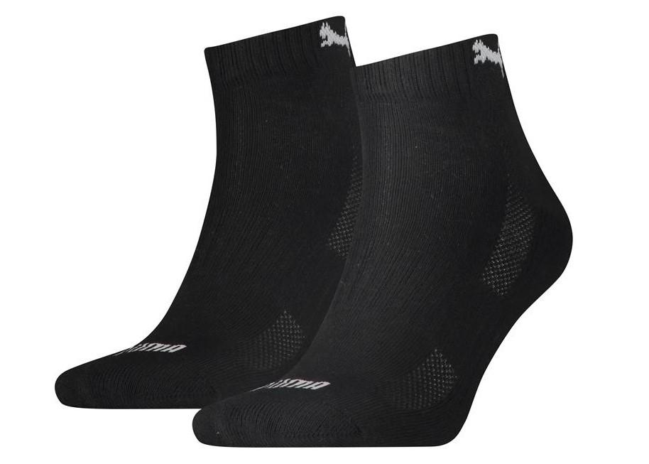 Halfhoge sokken met badstof zool-35/38-Black