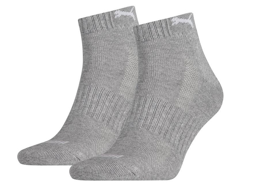 Halfhoge sokken met badstof zool-35/38-Medium grey