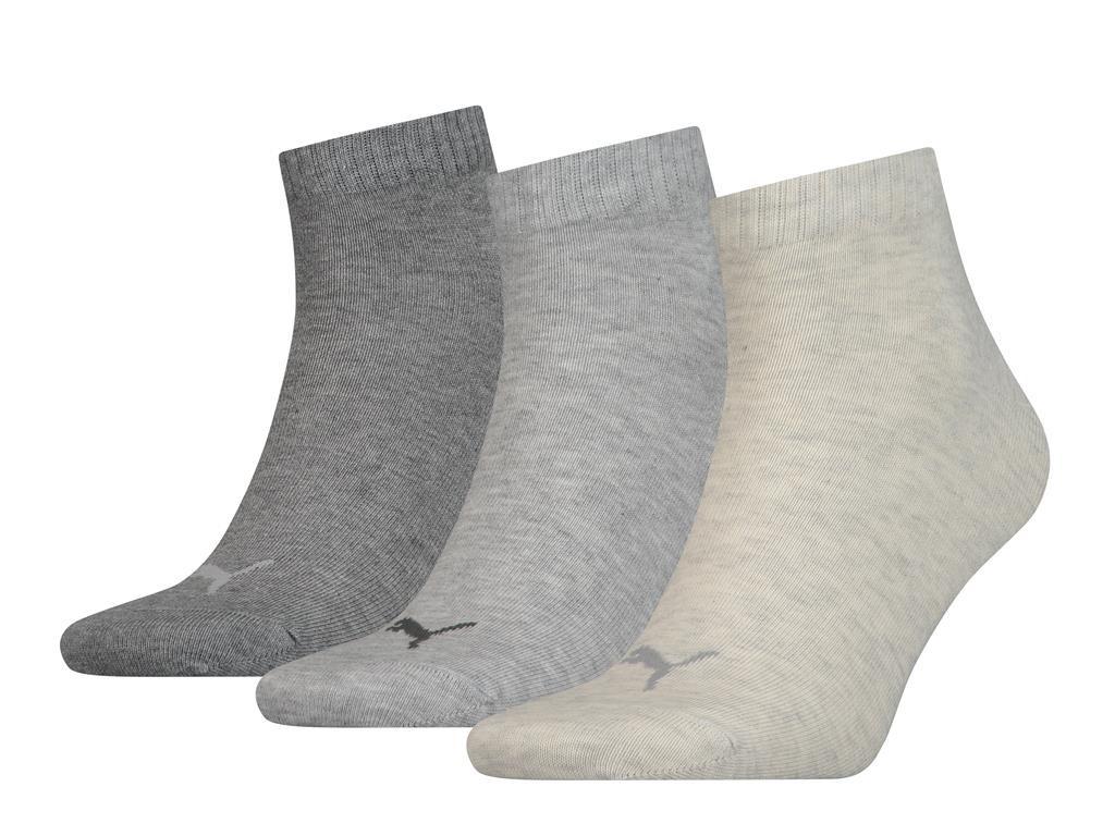 Halfhoge sokken van zacht katoen -43/46-Light grey melange
