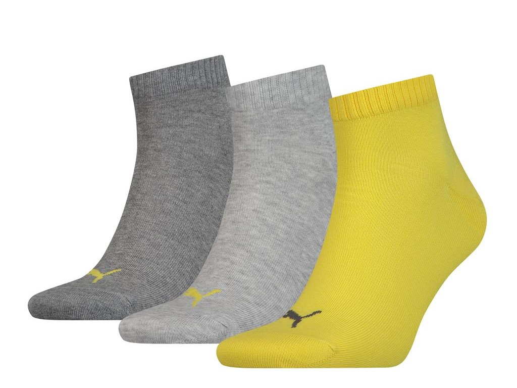 Halfhoge sokken van zacht katoen -39/42-Yellow