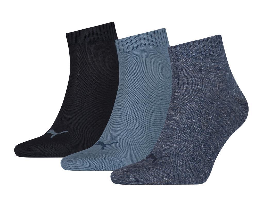 Halfhoge sokken van zacht katoen -43/46-Dark demin