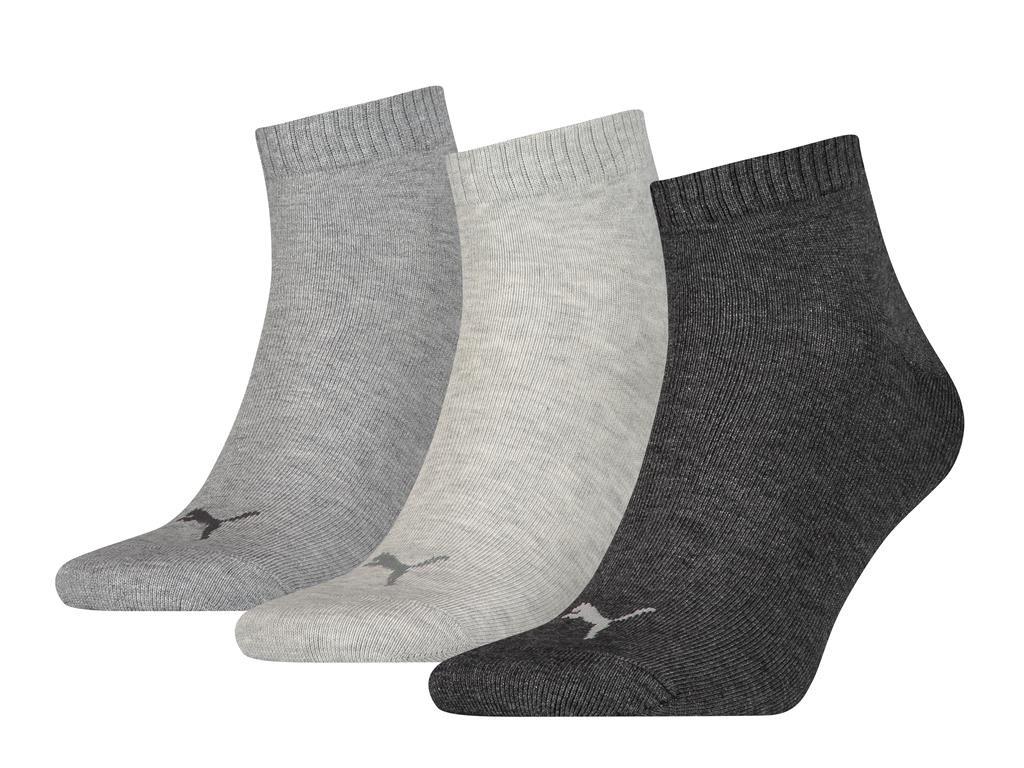 Halfhoge sokken van zacht katoen -39/42-Antraciet