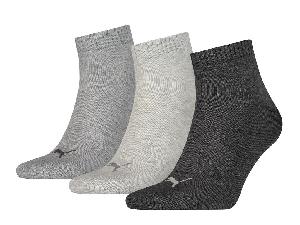 Halfhoge sokken van zacht katoen -43/46-Antraciet