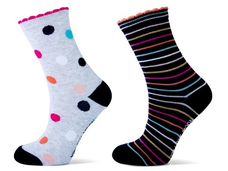 Katoenen meiden sokken met Stippen en strepen.-31/34