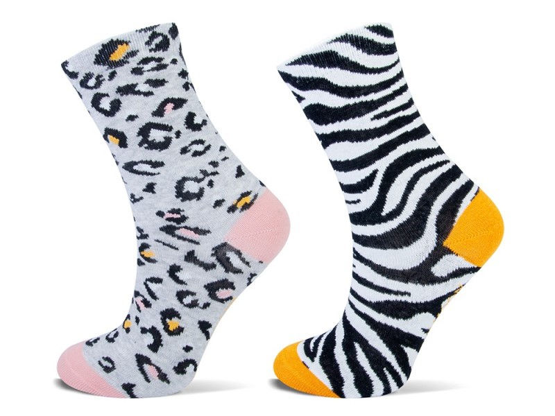 Shortsock YM dierenprint 2-pack-Ocre-39/42