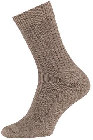 Wollen sokken met een badstof zool-39/42-Dark beige