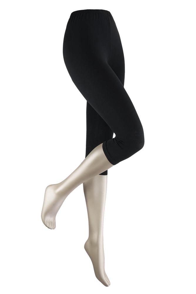 katoenen capri legging -Black-XXL