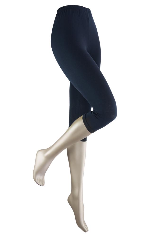 katoenen capri legging -Marine-L/XL