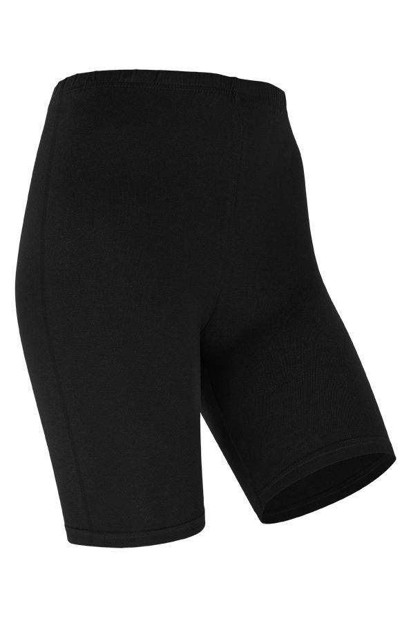 Short legging van katoen-XXL-Black