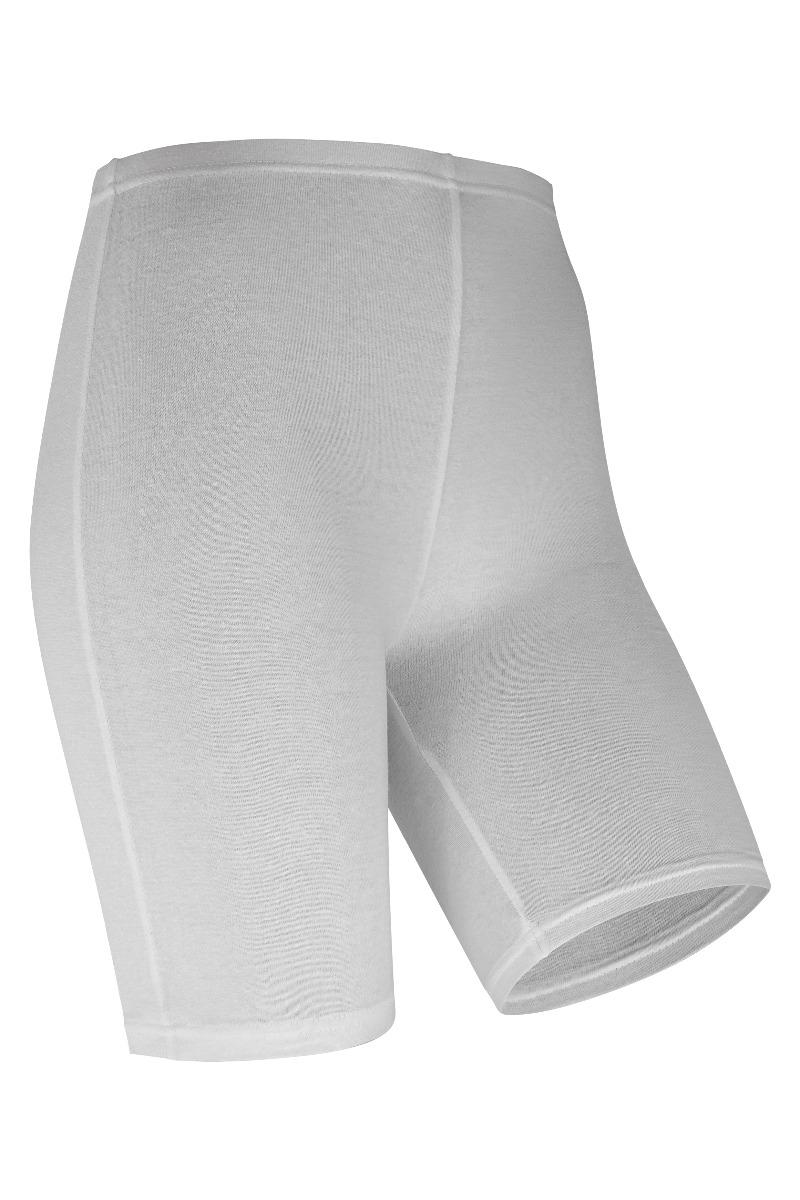 Short legging van katoen-L/XL-White