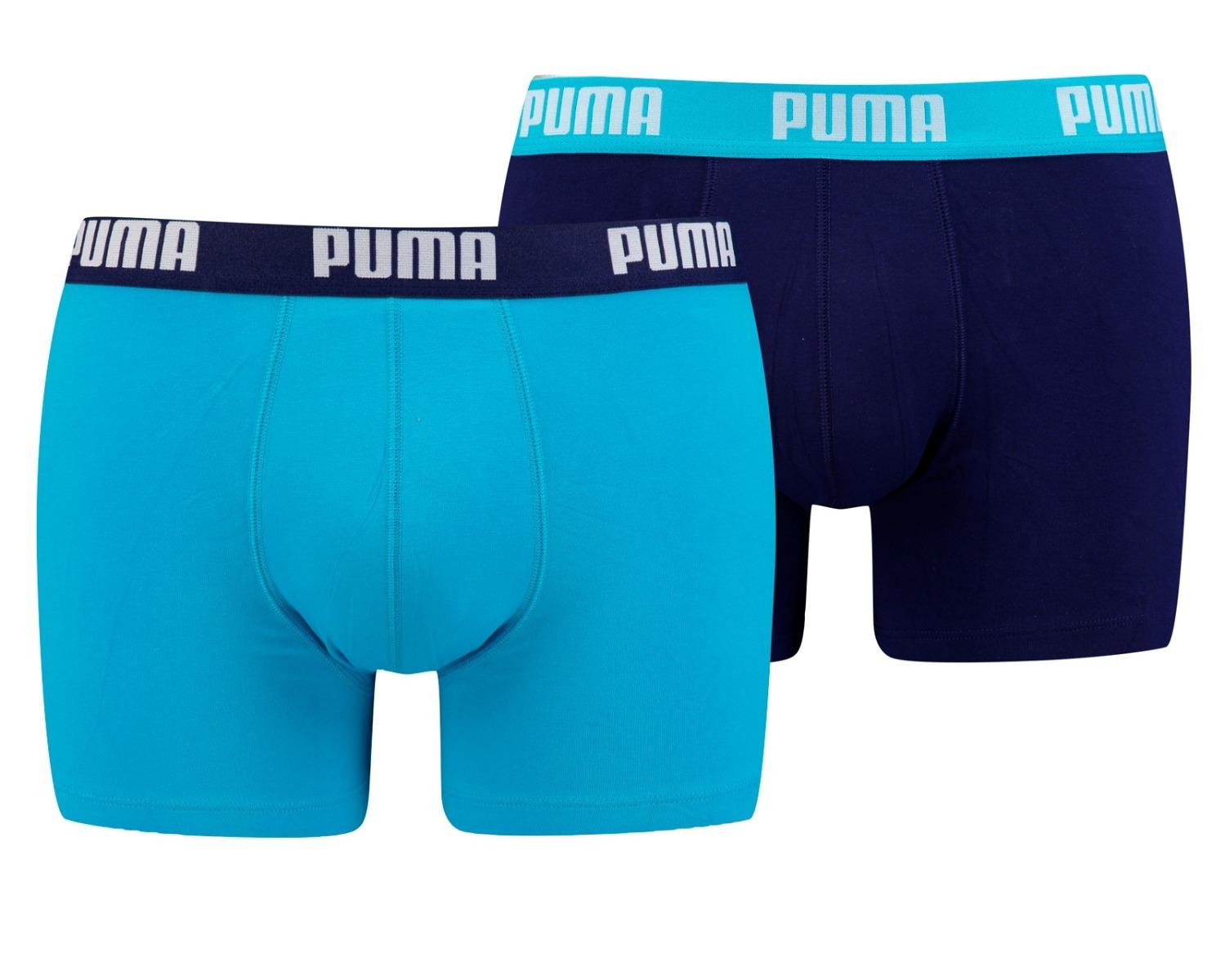 PUMA BASIC BOXER 2P AQUA - BLUE-L