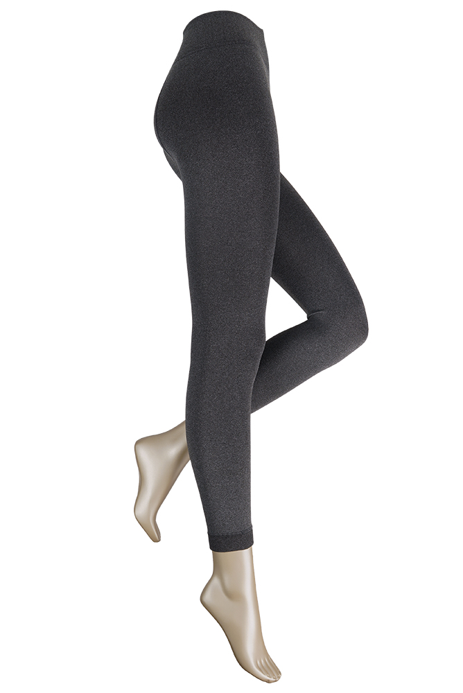 Thermo dames legging met comfort boord-S/M-Anthracite melee